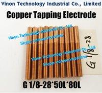 (5pcs) BSP G1 / 8-28 * 50L * 80L elettrodo filetto in rame (filo L = 50mm). G 1/8 British Standard Pipe Tap Elettrodo BSPP 55 gradi Tipo parallelo