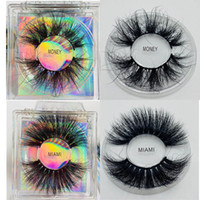 Hot sell fluffy natural 5d 100% real mink lashes 6d faux min...