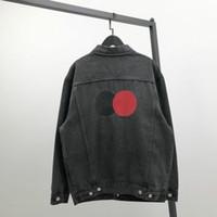 20SS mens veste denim rétro précision revers de la veste casual broderie classique lavé oversize gris-noir parfait détail tops jean explosifs