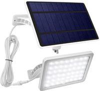 Parlak 1000 Lümen 48 LED Güneş Işıklar Açık Duvar Uzatma Kablosu, IP65 su geçirmez Güneş Enerjili Spotlight ile Güneş Sundurma ışıkları Monteli