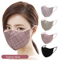 Suede fibre Masques masque anti-poussière adulte Plaid réglable visage Bouche Automne Hiver Lavable réutilisable Smogproof Masques