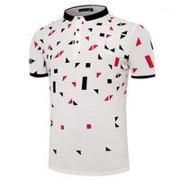 Neue 2019 Art und Weise Polo Shirts Kurzärmlig Knopf Kleidung Tops Herren Polos Sommer
