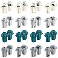 12 Evan White Jersey Womens Yoshihisa Hirano 19 Jay Buhner 1 Tim Beckham 35 Cory Gearrin Ken Griffey Jr. Beyzbol Formaları Özel Dikişli