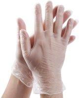 Gants de latex transparents jetables pour nettoyage domestique alimentaire Caoutchouc gants PVC Gants 100pcs / boîte en gros en gros
