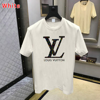 T Shirt Hot Men Fashion imprimé animal manches courtes T-shirt Taille S-4XL Hip Hop Hommes T-Tops Louis Vuitton