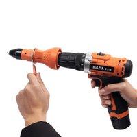 Pull électrique Rivet Adaptateur de conversion électrique Rivet Nut riveteuses Drill Adaptateur outil Nut multifonctions Nail Rivets Gun
