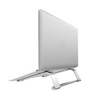 حامل كمبيوتر محمول سبائك الألومنيوم 11-17 بوصة قابلة للطي محكم ل Macbook Air Pro Lapdesk غير زلة قوس تبريد الكمبيوتر