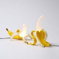 Италия Seletti Banana Ночники Современная Гостиная Теплый светодиодные настольные лампы Спальня прикроватный стол лампы Home Decor СВЕТИЛЬНИК