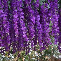 Luyue 12p جيم الاصطناعي الوستارية فاينز 97CM ديكور الزفاف جارلاند الحرير الديكور الزهور الرئيسية وهمية زهرة الكرمة C0924
