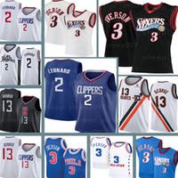 Rétro Allen 3 Iverson Kawhi 2 Jerseys Leonard LosAngelesLAClippers Paul 13 George Basketball Jerseys