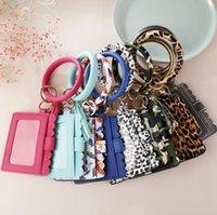 Sac Tassel porte-clés Bracelets carte 27 Styles en cuir PU Bracelet Leopard Serpent Wallet Porte Bangle Porte DDA355 Keyring