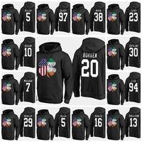 2019 EE.UU. Equipo Hockey Sudaderas con capucha Jerseys Custom Negro St. Patricks Day American Shamrock Shirt Shirt Will Borgen Troy Terry Zapolski Stoa