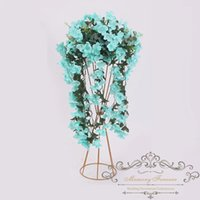 파티 장식 꽃 스탠드 결혼식 금속 산책로 기둥 중심 테이블에 대 한 높이 꽃병