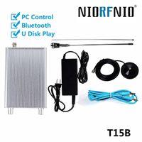 Controllo Radio Station NIO-T15B 15W FM Transmitter PLL Mini Bluetooth Wireless PC Broadcast + Power + Antenna Car Theatre Campus Broadcast