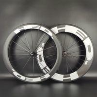 HED 700C عجلات الكربون الطريق الأمامي 60 ملليمتر الخلفية 88mm العمق 25MM عرض 25MM / لايحتاج / أنبوبي الكربون العجلات مع نهاية المطاف