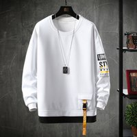 2020 Solid Color Sweatshirt Men Harajuku Hoodies Autumn Spri...