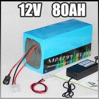 almacenamiento de energía de 12V 80Ah Solar litio batería de iones de lámpara LED 1000W bicicleta eléctrica 12v RC