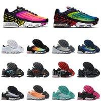 III TUNED AIR Hommes Femmes Chaussures De Course Hyper Violet Parachute TN Plus 3 Outdoor Hommes Femmes Baskets Sport Hommes Formateur Taille 36-45