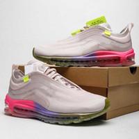 New Sneaker 97 OG OW Bala TPU almofadadas Tênis Disponível na cor preta, branco, cinza, cores, All Jogo Unisex 36-45 Com Box