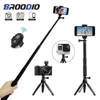 Stative Stativ Bluetooth Fernbedienung Selbstauslöser Cliphalter Selfie DSLR Stick Mount für Sportkamera Telefonständer