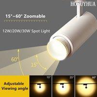 Vitrin Duvar Arkaplan Duvar Aydınlatma 30W Led Spotlight Bar Sahne Kamera Projeksiyon Spotlight Yakınlaştırma Ayarlanabilir Odak Parça Lambası
