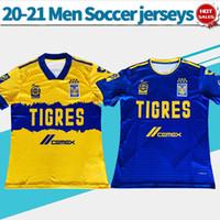 2021 jerseys de fútbol Tigres UANL casa amarillo azul ausente 20/21 Hombres camiseta de fútbol de México uniformes de fútbol de la liga modificadas para requisitos particulares