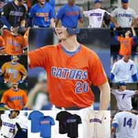 Custom Florida Gators البيسبول جيرسي NCAA كلية بيت ألونسو هاريسون بدر يعقوب شاب بتلر ناثان هيكي جوش ريفيرا كريستيان سكوت