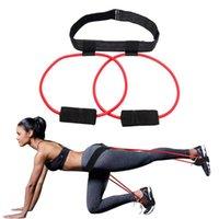 VKTECH Pédale exerciseur Bande de résistance latex élastique Pull corde Yoga Pilates Workout Fitness Sport Body Building Equipment