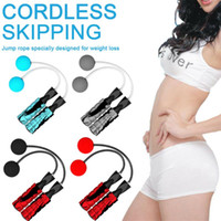 New PVC Ropeless Jump Rope Adjustable Cordless Skipping EVA Weighted Gym Training Gym Training Exercise Indoor Fitness Equipment