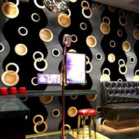 현대 3D 벽지 휴게실 침실 TV 배경 홈 장식 원형 패턴 벽 종이 롤