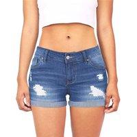 جينز المرأة أزياء المرأة عالية الخصر الصلبة العقص الدنيم السراويل ممزق قصيرة لمدة 2021 السيدات الصيف زائد الحجم