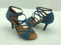 mulheres profissionais fashional latino sapatos sapatos de dança de salão salsa que dançam o tango sapatos em festa de casamento Jeans 6232J