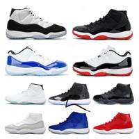 HIGH Jumpman 23 스페이스 잼 모자와 가운 트레이너 스니커즈 상자로 자란 새로운 LOW WMNS CONCORD (11) 남성 여자 농구 신발 11S의 XI