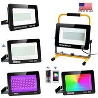 100W LED Flood Licht LED Street Lamp 110V 220 V Waterdichte Spotlight Landschap Verlichting IP66 LED Spotlight + Amerikaanse aandelen