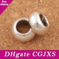 السلس دائرة فاصل معدن الخرز الحفرة الكبيرة 9 .5x9 .5x5 .5mm العتيقة الفضة صالح الأوروبي سحر أساور مجوهرات اليدويه L1363
