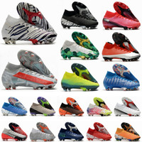 Mercurial Superfly CR7 VII 7 النخبة 360 رجل أحذية كرة القدم الحي mbappe بوندي أضواء جديدة المستقبل مختبر fg كرة القدم المرابط كرة القدم الأحذية