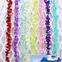Falsos flores de la simulación multi de los colores de seda artificial Hydrangea de cuerdas para la boda colgar de la pared Decoración Suministros de Nueva 22qm BB
