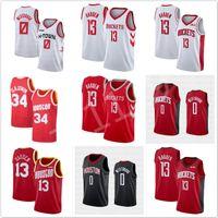 maglie di basket maschile maglia 0 Russell Westbrook 13 James Harden 34 Hakeem Olajuwon di alta qualità