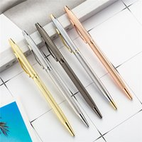 penne a sfera penna finanziaria lusso fine Business Scuola ufficio cancelleria per ufficio in metallo Penna a sfera Nuovo oro