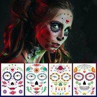 Halloween tatouage temporaire Autocollants Décor Props Autocollant de visage écologique atmosphère étanche mascarade Tatouages visage pour Body Art FFA4461