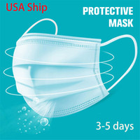 Free Shipping 3- 7 days 50 PCS Disposable Face Masks Protecti...