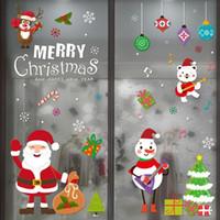 Noel Süslemeleri Masa Mutlu Dekorasyon Ev Pencere Çıkartmalar Cam Noel 2021 Süsler Noel Duvar Sticker Navidad