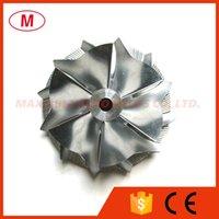 GT15- 25 49,50 / 63.00mm 6 + 6 lames Performance Turbo roue de compresseur billettes / Aluminium 2618 / fraisage pour Turbocompresseur cartouche / LCDP / Core