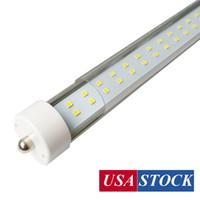 US + 45W 72W 8FT T8 LED 튜브 단일 핀 FA8, 8 피트 LED 라이트 튜브 듀얼 더블 행 LED 형광 튜브 AC 85-277V 클리어 커버