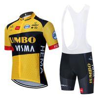 2020 Nova Jumbo Visma Ciclismo Equipe Jersey 20d Bike Shorts Terno Ropa Ciclismo Mens Verão Pro Bicicleta Maillot Calças de Pants