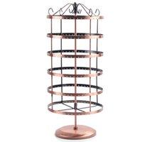 Gratis frakt NYHET 288 HOLES BRONZE Örhängen Öronpinnar Smycken Display Rack Metal Stand Holder Showcase