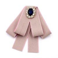 Gioielli da uomo di Uniforme New College scuola di stile strass Accessori dell'arco delle donne di modo del legame regalo Handmade Bowties