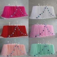 Таблица юбка для Скатерти партии Свадеб десертного украшения юбки Детского плинтуса дня рождения
