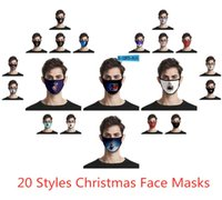 20 Styles Christmas Face Masks Adults Kids Christmas Mask An...
