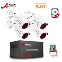 Sistemler Anran 1080 P AHD DVR CCTV 4CH Güvenlik Sistemi IR Gece Görüş Kamera Kiti Indooroutdoor Video Gözetim
